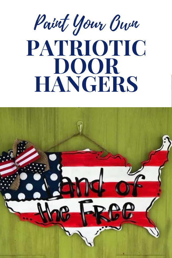 DIY Patriotic Door Hangers by Southern ADOORnments