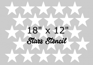 Patriotic USA Stars Stencil by Southern ADOORnments