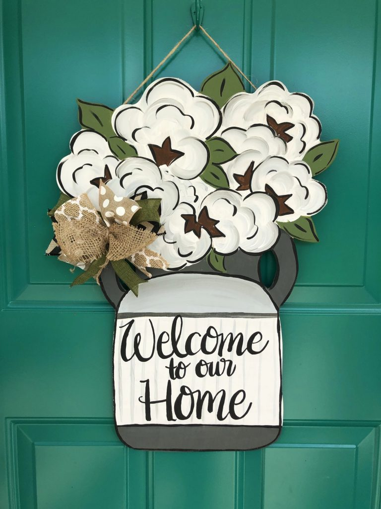 Cotton Milk Jug Farmhouse Door Hanger by Southern ADOORnments