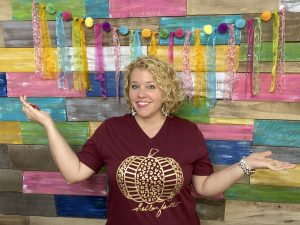 Finished Photo for Pallet Wall Colorful Backdrop by Southern ADOORnments