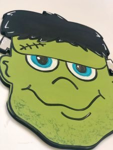 Frankenstein Door Hanger Wooden Accent DIY by Southern ADOORnments
