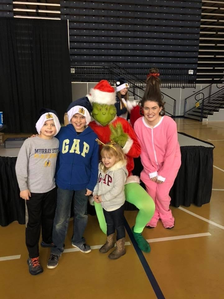 Murray State Basketball Grinch Costume Christmas Painted Backdrop by Southern ADOORnments