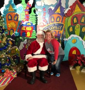 Murray State Santa Tamara Bennett Grinch Christmas Painted Backdrop by Southern ADOORnments