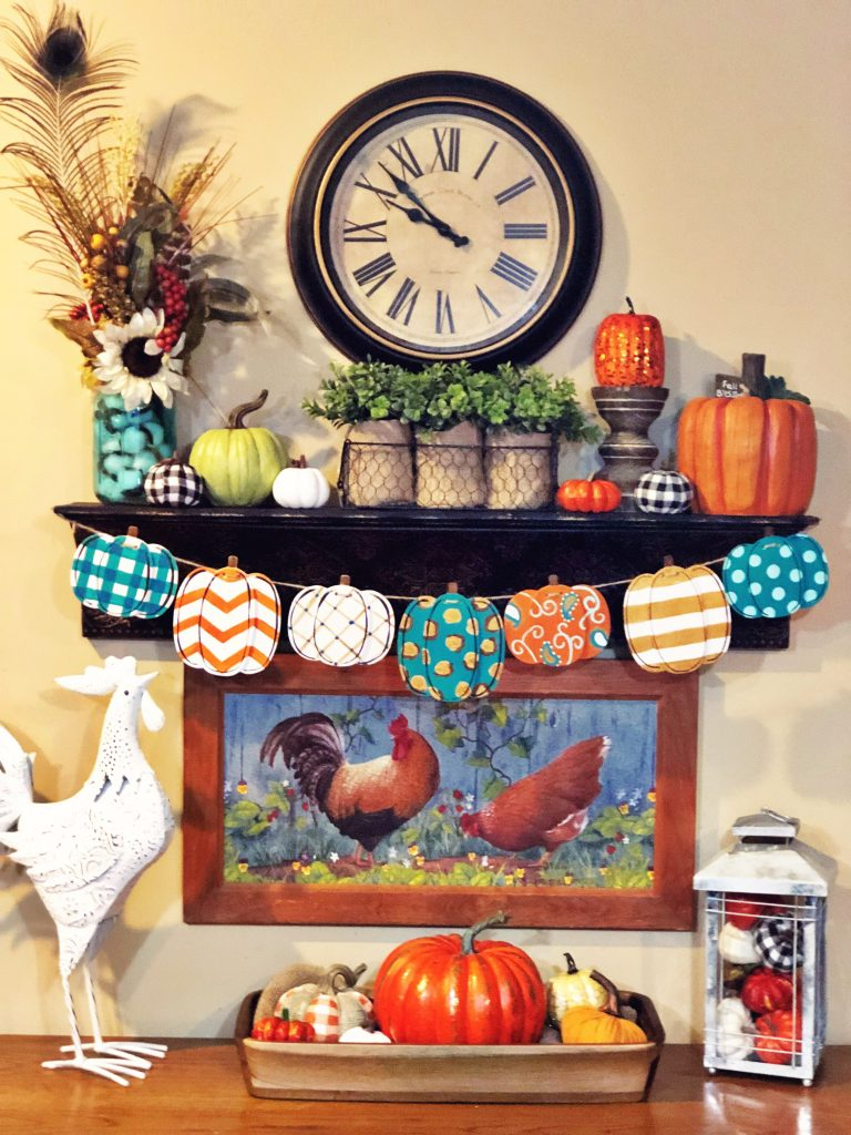 Painted Pumpkin Fall Banner by Southern ADOORnments