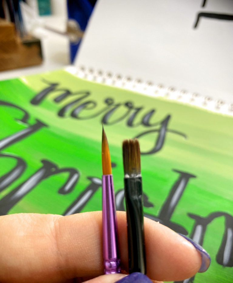 Hand Lettering Paint Brushes: Filbert vs Round Tip