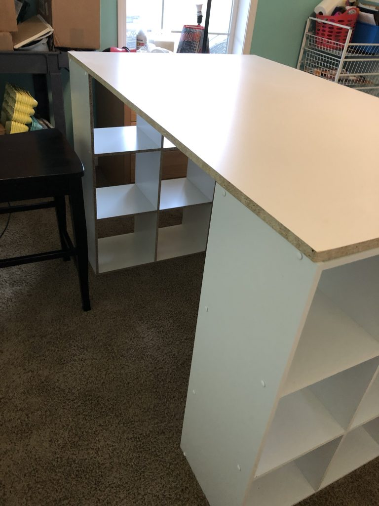 6 Easy DIY Craft Room Desk Island Project by Southern ADOORnments