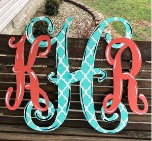 Monogram - Wooden Door Hanger - Southern Adoorn-ments - Tamara Bennett