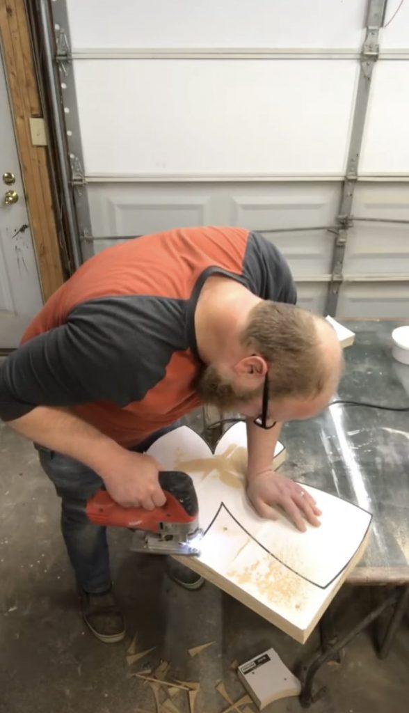 southern a-doorn-ments decor - how to cut wooden door hangers batch 2