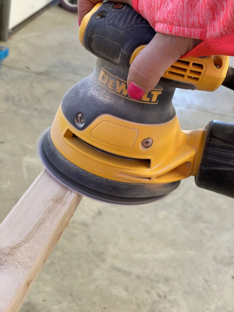 DeWalt Sander for DIY Farmhouse Wooden Sign by Southern ADOORnments