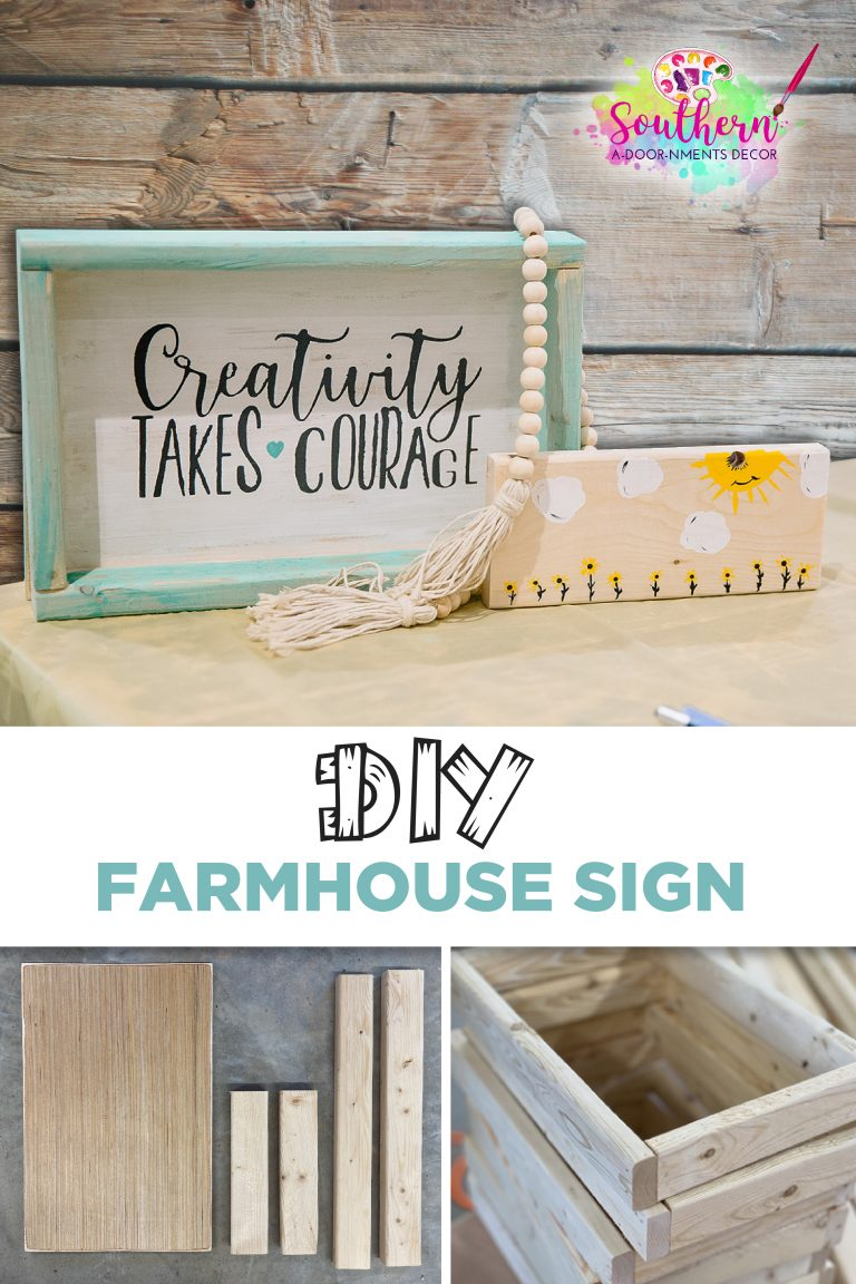 How to Build a DIY Painted Farmhouse Wooden Sign for Wall Decor by Southern ADOORnments