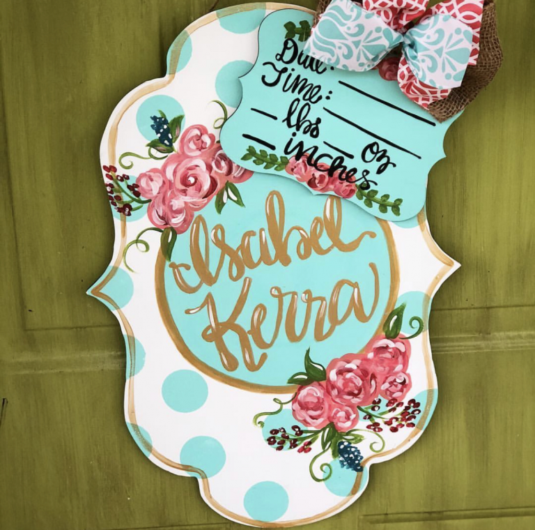 Personalized Painted Wooden Signs for Your Baby Nursery