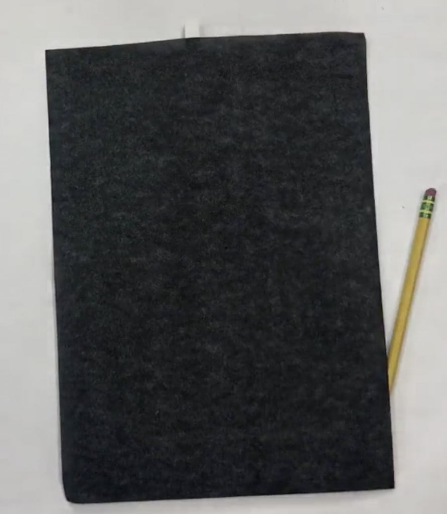 graphite paper and pencil