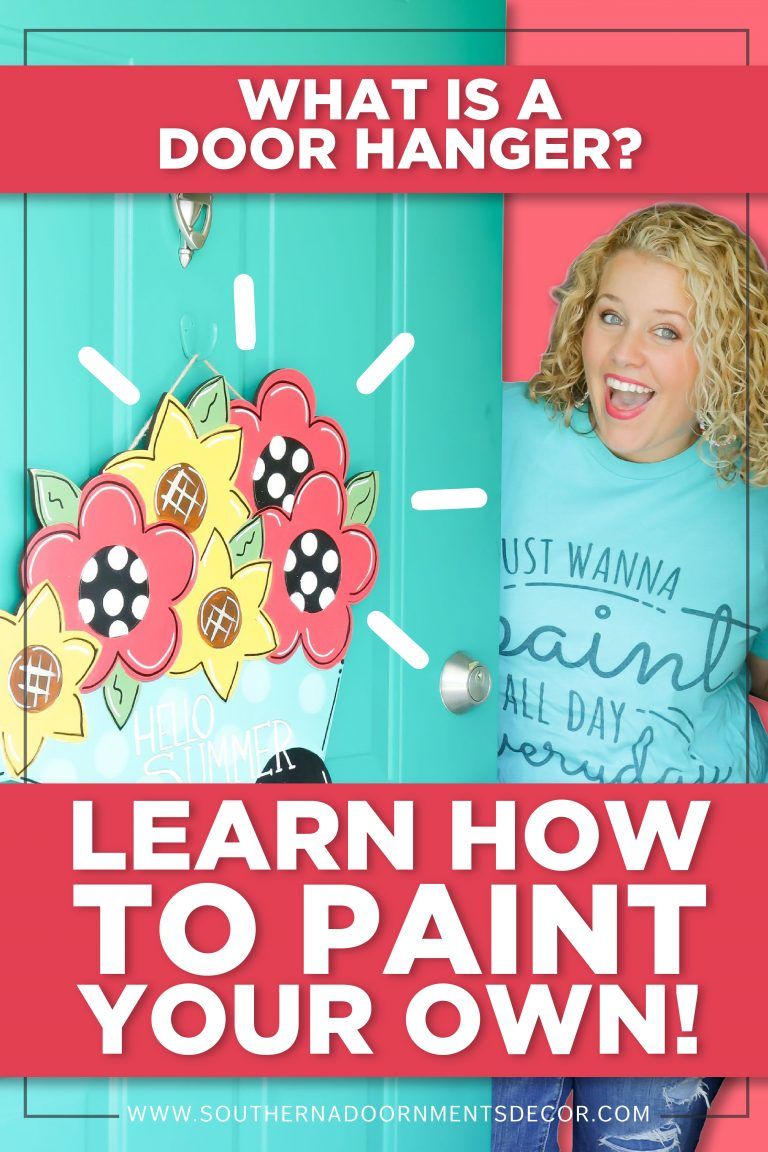 Learn How to Paint a DIY Painted Door Hanger for Beginners by Southern A-DOOR-nments