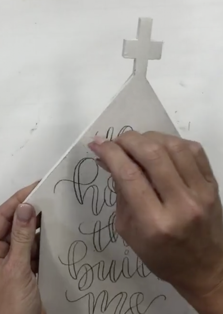 How to Trace Handlettering using graphite paper on a blank