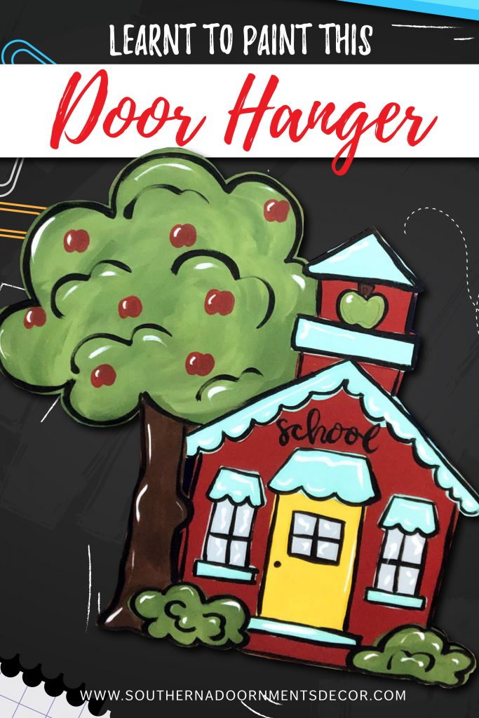 Learn to Paint a Back to School Schoolhouse Door Hanger or Classroom Wall Decor Sign by Southern A-DOOR-nments