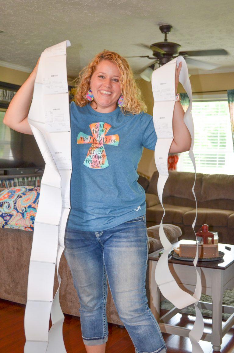 Tamara Bennett holding Shipping Labels for her Southern A-Door-nment Door Hangers