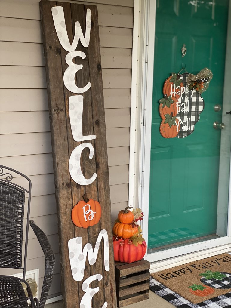 How to Make a Welcome Porch Sign
