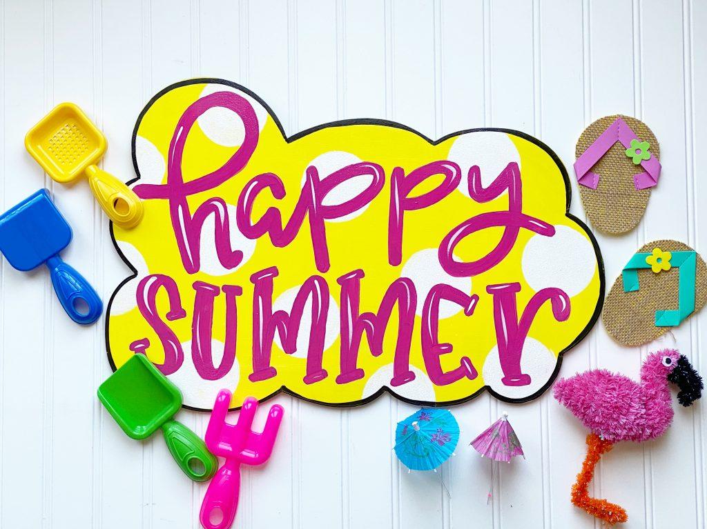Happy Summer Door Hanger by Southern A-Door-nments Decor
