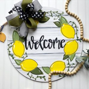Lemon Welcome Door Hanger by Southern A-Door-nments Decor