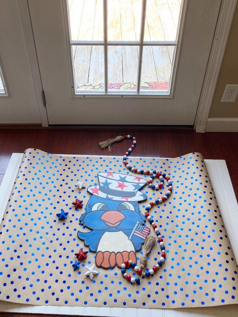 Patriotic Bird Door Hanger Staging by Southern A-Door-nments