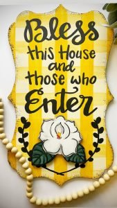 Bless this House Door Hanger by Southern A-Door-nments
