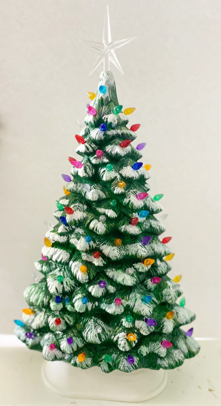 Painted Ceramic Christmas Tree Southern Adoornments Decor