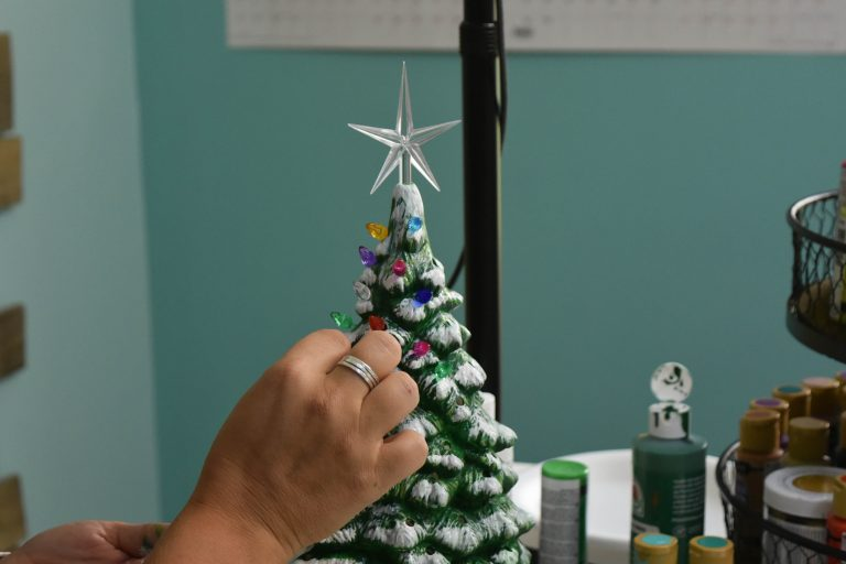 Lights in a Ceramic Christmas Tree