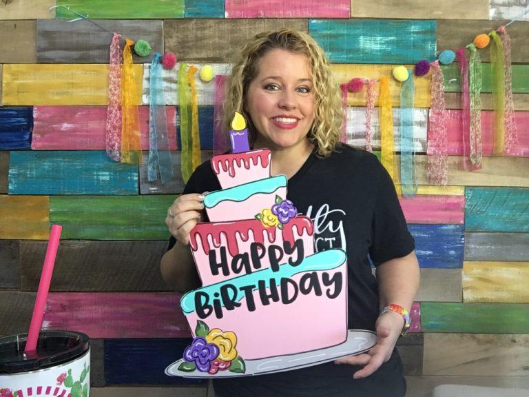 Birthday Cake Door Hanger